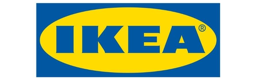 Blå og gul Ikea logo