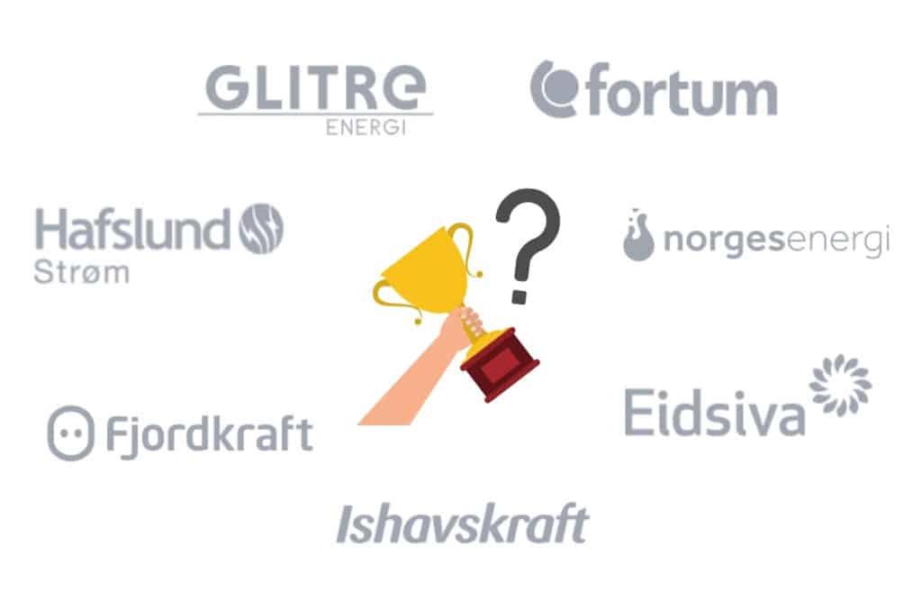 Norske strømselskaper som konkurrerer om å tilby laveste pris