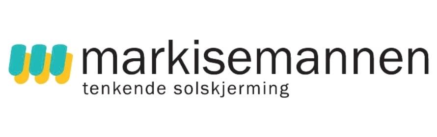 Markisemannen logo med teksten tenkende solskjerming