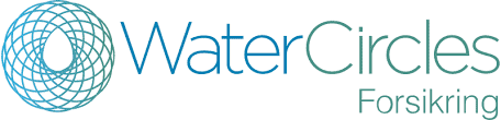 WaterCircles Forsikring logo hvit bakgrunn